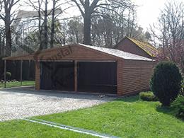 6,5x6 EXTRALINE garažas + pavėsinė